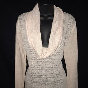 Cowl Neck light pink sweater
